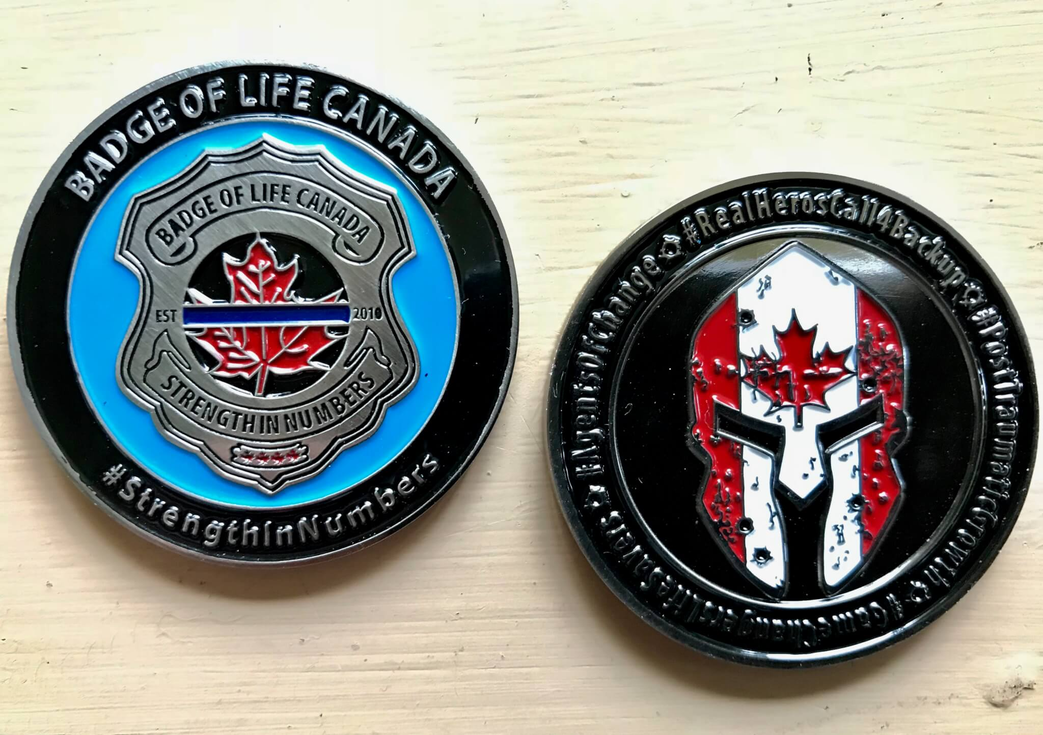 Badge of Life Challenge Coin